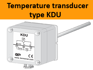 temperature-transducer-voltage-output-air-duct-mounting-type-KDU