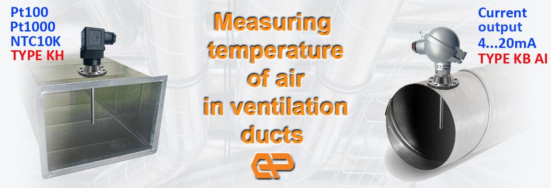 temperature sensor ventilation ducts